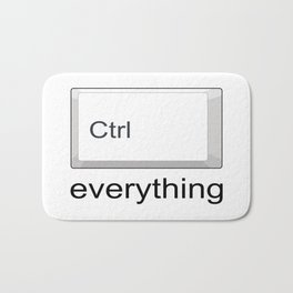Control Ctrl everything Bath Mat