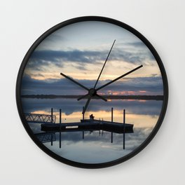 Fishing Refection Wall Clock