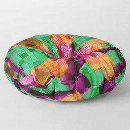 Orange Flower Floor Pillow