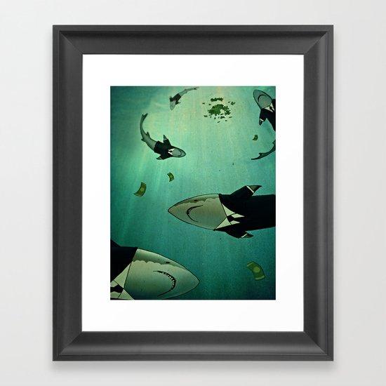 MORAL BANKRUPTCY Framed Art Print