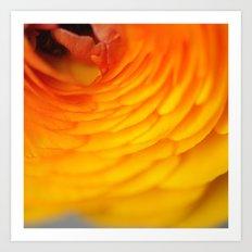 Vibrant Yellow and Orange Art Print