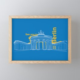 See you in Berlin Framed Mini Art Print