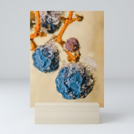 Frozen Wild Berries. Macro Photograph Mini Art Print