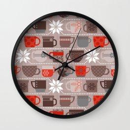 Snow Day Mugs - Chocolate Wall Clock