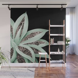 Agave Finesse Glitter Glam #2 #tropical #decor #art #society6 Wall Mural