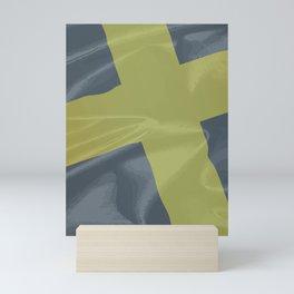 Silk Flag of Saint David Mini Art Print