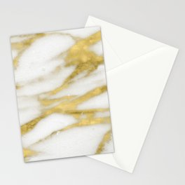 Bari golden marble Stationery Cards