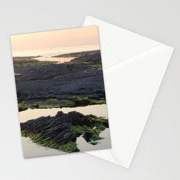 Sunset projected on the sea on the east coast of Jeju, Jeju Island.Korea. Stationery Cards