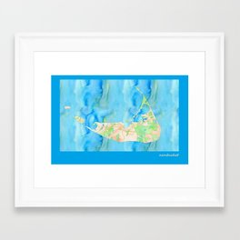 Nantucket card Framed Art Print