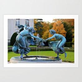Dancing Nymphs - Den Brandt Castle - Antwerp Art Print
