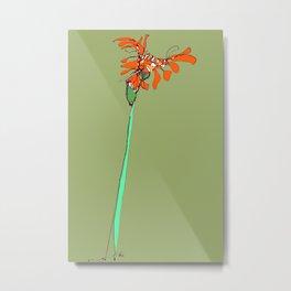 Autumn Olive Gerbera Metal Print