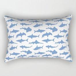 Sharks in Danube Blue Rectangular Pillow