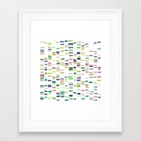dna Framed Art Prints featuring DNA by insemar