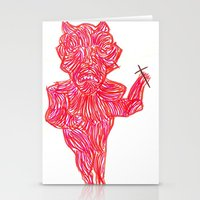 devil Stationery Cards featuring Devil by Guice Mann