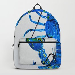 Blue Lobster Wall Art, Lobster Bathroom Decor, Lobster Crustacean Marine Biology Backpack