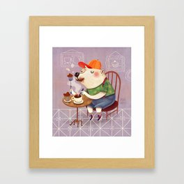 White Bear Framed Art Print