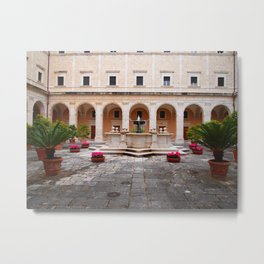 Monastic Courtyard Metal Print
