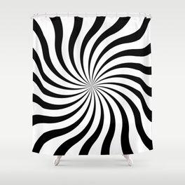 op art - sun twist Shower Curtain