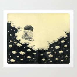 Let's Pretend Everything's Okay Art Print