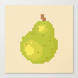 Pear Pixel Art   Animal Villager Canvas Print