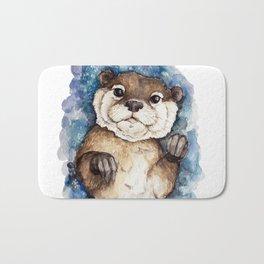 Watercolor Otter Bath Mat