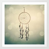 dreamcatcher Art Prints featuring Dreamcatcher  by Laura Ruth