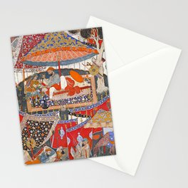 16th Century India Watercolor Painting Stationery Cards