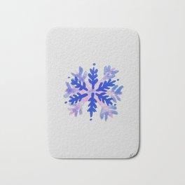 WATERCOLOR SNOWFLAKE 7 - blue and purple palette Bath Mat