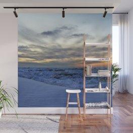 Icy Sea at Sunset Wall Mural