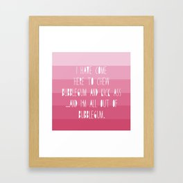 Kickass Bubblegum Framed Art Print