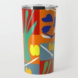 Matisse Inspired Colorful Collage #2 Travel Mug