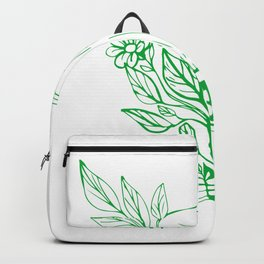 Fox Head With Flower and Leaves Drawing Backpack