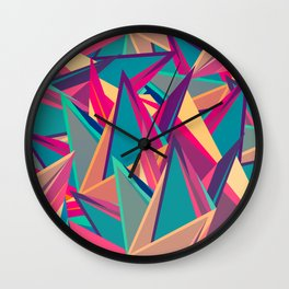 Triangles Intensive (Full) Wall Clock