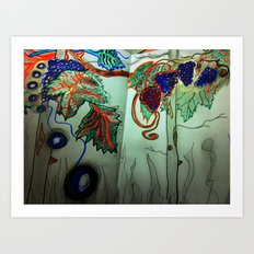 my first free standing fruit 2 Art Print
