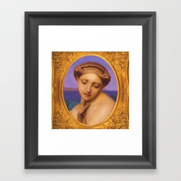 Hellenic Allure Framed Art Print