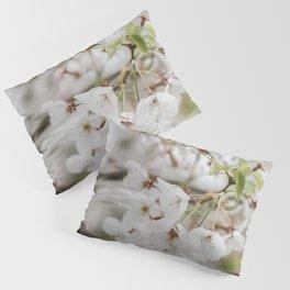 Japanese Cherry Flower Printable Wall Art | Floral Plant Botanical Nature Outdoors Macro Photography Print Pillow Sham