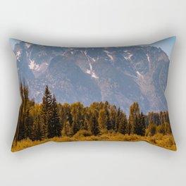 Grand Teton National Park Mountain Range Wyoming Vintage Print Rectangular Pillow