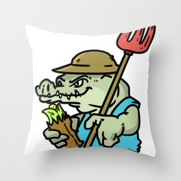 Farmer Peasant Grower Gift Farm Funny countrymen Throw Pillow
