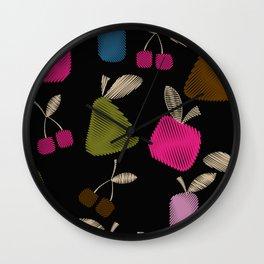 Funny cartoon multi -Frutti . Wall Clock