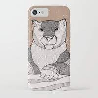 snow leopard iPhone & iPod Cases featuring Snow Leopard by Diana Hope