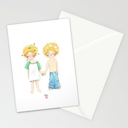 Little twin boy Stationery Cards