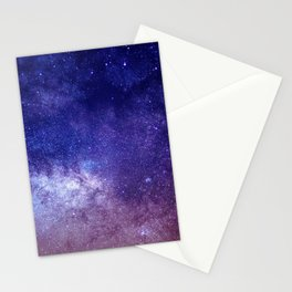 STARS - NIGHT - GALAXY - PURPLE - PINK - INDIGO Stationery Cards