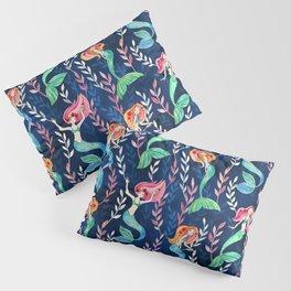 Merry Mermaids in Watercolor Pillow Sham