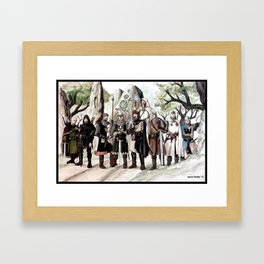 Knights of Castleton, The Early Days Framed Art Print