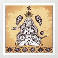 om Art Prints featuring om by flamenco72