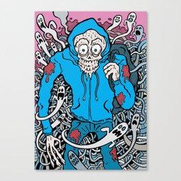 Hooded Skull  Canvas Print