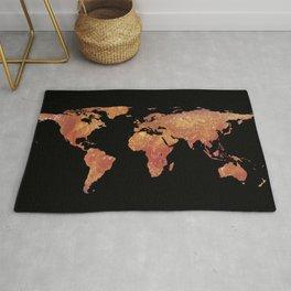 World Map Silhouette - Crispy Bacon Rug