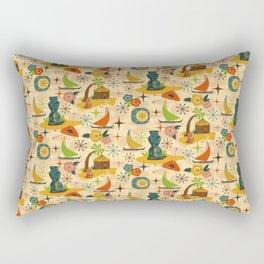 Mid Mod Tiki Rectangular Pillow