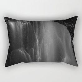 Black and white waterfall long exposure Rectangular Pillow