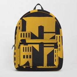 Golden city art deco Backpack
